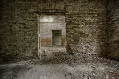 一个被放弃的宫殿的内部 免版税库存照片