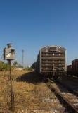 一个被放弃的开关选择铁路 免版税库存照片