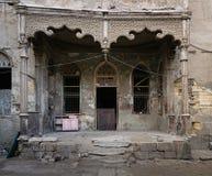 一个被放弃的房子的门面,开罗,埃及 库存照片