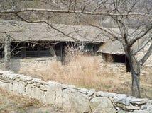 一个被放弃的村庄 库存照片