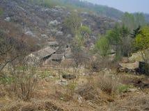 一个被放弃的村庄 库存图片