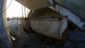 一个被放弃的煤矿 库存照片