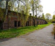 一个被放弃的苏联军事基地的内部 免版税库存照片