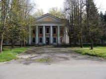 一个被放弃的苏联军事基地的内部 库存照片