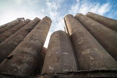 一个被放弃的谷物仓库的粮仓 库存图片