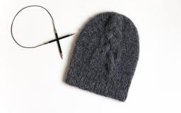 一个被编织的帽子 库存照片
