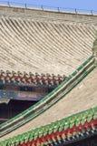 一个被装饰的亭子的屋顶永和喇嘛寺院,亦称喇嘛寺庙的,北京,中国 库存图片