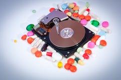 一个被暴露的硬盘 免版税库存照片