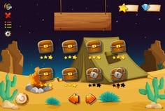 一个计算机游戏在沙漠 库存照片