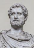 一个诺贝尔罗马人的雕象,罗马,意大利 库存照片