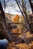 一个谷的风景在日落的 免版税图库摄影