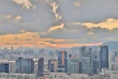 一个贸易、事务和工业区在香港 免版税图库摄影
