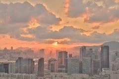 一个贸易、事务和工业区在香港 免版税库存图片