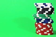 一个赌博娱乐场-模子,芯片的图象,赌博-有拷贝空间的 图库摄影