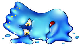 一个超级失望的蓝色妖怪 图库摄影