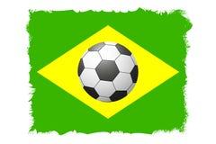 一个足球的一个美好的概念反对橄榄球背景的 库存图片
