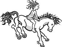 一个跳跃的小马的孩子 皇族释放例证
