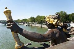 一个身材在巴黎。 库存图片