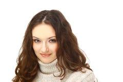 一个迷人的女性的纵向 免版税库存照片