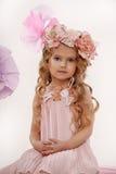 一个迷人的小女孩的画象 库存图片