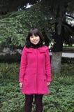 一个逗人喜爱的中国女孩的纵向。 免版税库存图片