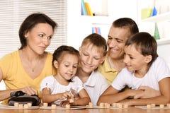 一个逗人喜爱的家庭的画象 图库摄影