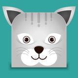 一个逗人喜爱的猫例证 免版税图库摄影