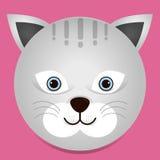 一个逗人喜爱的猫例证 图库摄影