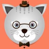 一个逗人喜爱的猫例证 免版税库存图片