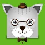 一个逗人喜爱的猫例证 免版税库存照片