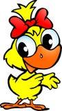一个逗人喜爱的鸡婴孩的例证 免版税库存照片