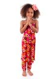 逗人喜爱的年轻非洲亚裔女孩-亚裔孩子 免版税库存照片