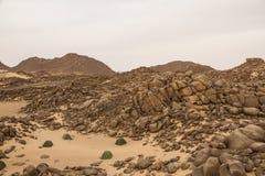 一个遥远的野营的斑点在撒哈拉大沙漠在苏丹 免版税库存图片