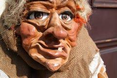 一个邪恶的巫婆的面孔 免版税库存照片
