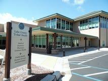 一个部族诊所大厦的照片 库存图片