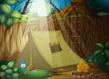 一个野营的帐篷 皇族释放例证
