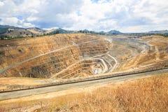 一个金矿马莎的露天开采矿在Waihi,新西兰 库存照片