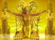 一个金黄埃及寺庙 免版税图库摄影