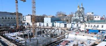 一个钢筋混凝土基础的建筑 库存图片