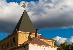 一个铜大厦的圆顶 免版税库存图片