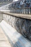 一个银色寺庙Wat Sri Suphan的片段 免版税库存图片