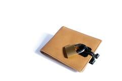 锁着的钱包 免版税库存照片
