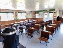 一个门诺派中的严紧派的一个室校舍 图库摄影