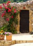 一个门道入口在法国 免版税库存照片