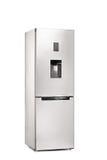 一个闭合的冰箱的垂直的射击 免版税图库摄影