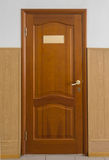 一个闭合的木门 库存照片