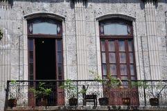 一个阳台在哈瓦那,古巴 库存照片