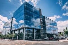 一个阿尔伯特奎伊大厦,是一个最重大的新的办公室发展在黄柏市中心在许多岁月 免版税图库摄影