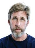 一个随便加工好的白种人人的顶头射击有胡子的 免版税库存照片