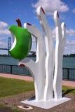 一个雕塑在Odette公园在温莎 免版税库存图片